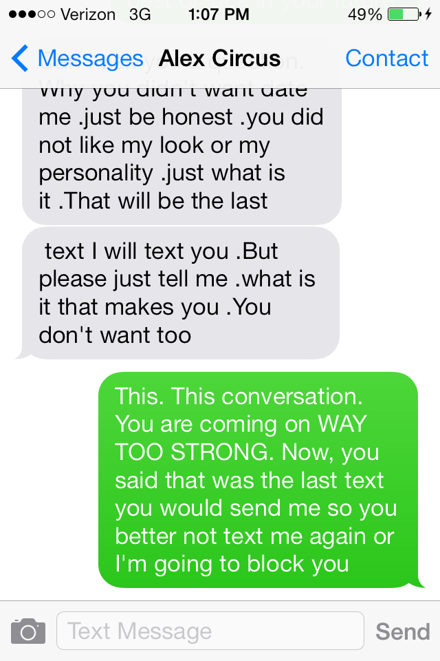 Why You Don't Meet Guys In Clubs: The Creepiest Texting